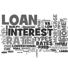 Which mortgage loan type for you text word cloud vector