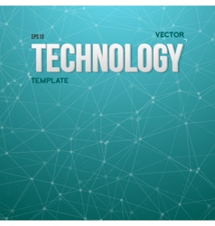 Wireframe Technology Background vector image