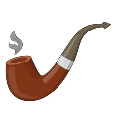 Wooden pipe icon cartoon style vector