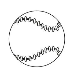 baseball ball sport game thin line vector image vector image