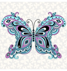 fantasy vintage butterfly vector image vector image