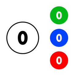 number 0 sign icon vector image