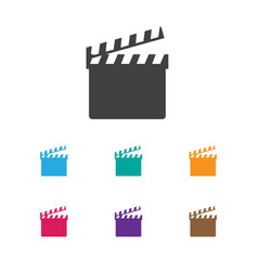 of movie symbol on clapper vector image vector image