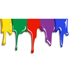 Abstract Colorful Paint Splat vector image