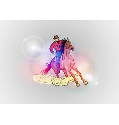 background abstract with horse western vector image