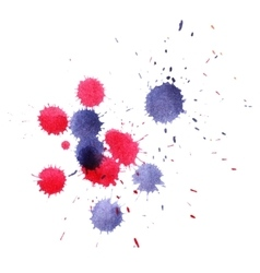 Colorful watercolor splashes vector