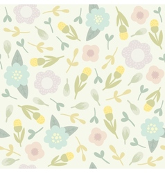 Cute floral seamless pattern vector image vector image