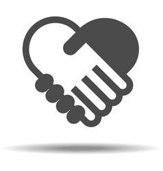 Love Handshake vector image vector image