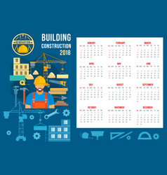 poster for home building construction vector image vector image