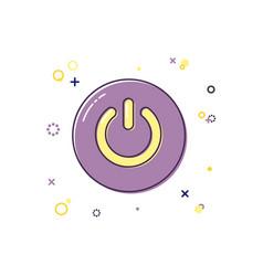 power button color icon vector image