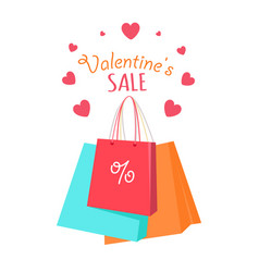 valentine s sale flat style concept vector image vector image