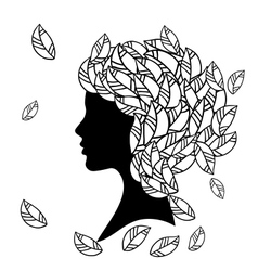 Hairstyles Silhouette vector image vector image