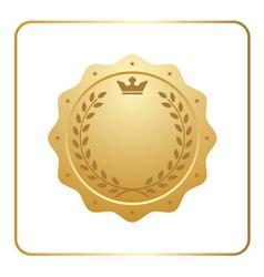Seal award gold icon Blank medal vector image
