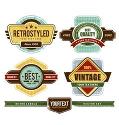 set of grunge retro badges vector image