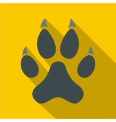 Cat paw icon flat style vector image vector image