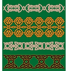Celtic embellishments and ornaments vector image