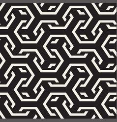 seamless interlacing lines pattern vector image vector image