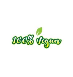 100 vegan word font text typographic logo design vector image