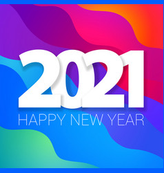 2021 new year banner vector image