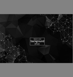 Abstract black polygonal space background with vector