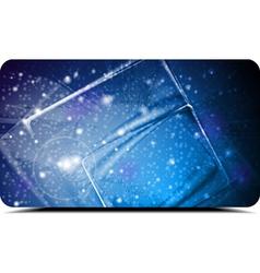 Abstract blue card vector