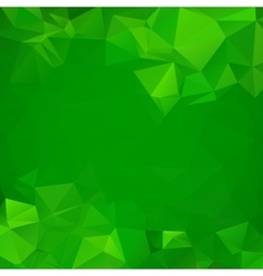 Abstract green geometric triangle background vector image