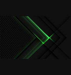 Abstract grey metallic overlap green light circle vector