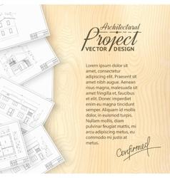 Architecture bluerints vector image