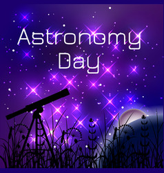 Astronomy day night sky with bright stars vector