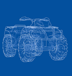 Atv quadbike concept outline vector