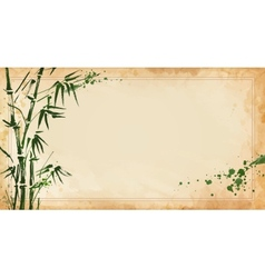 Bamboo painted on textural grunge horizontal vector