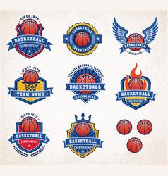 Basketball logos 2 vector