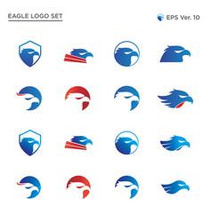 best eagle head logo collection set vector image