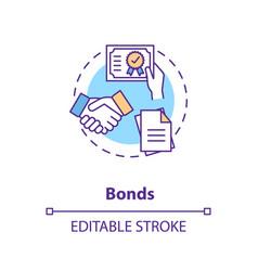 Bonds concept icon vector