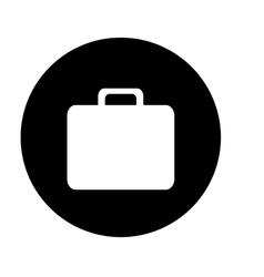 Briefcase button thumbnail business icon image vector