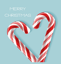 Bright poster with candy cane heart vector