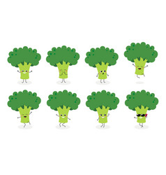 broccoli emoticon n2 vector image