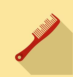 Broken comb icon flat style vector