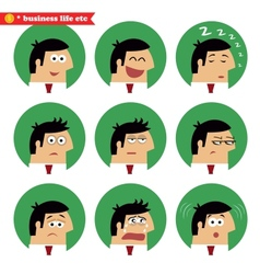 Business facial emotions vector