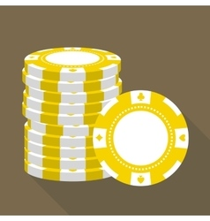 Casino gambling chips stack vector image
