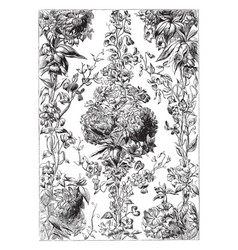Chintz fabric is a cotton fabric imprinted vector