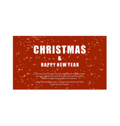 christmas and new year greetings typographic card vector image