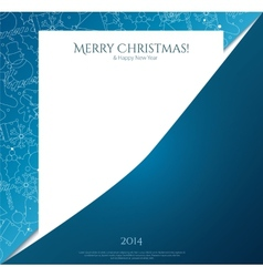 Christmas card with christmas icon on paper vector image