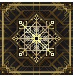 Christmas snowflake art deco style vector