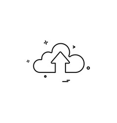 cloud up design vector image