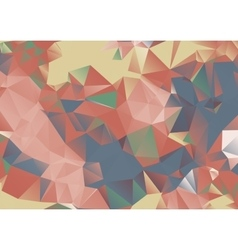 Colorful polw poly background vector image vector image