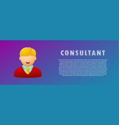 consultant avatar flat vector image