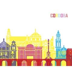 Cordoba skyline pop vector image