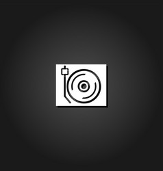 disk jockey turntable icon flat vector image