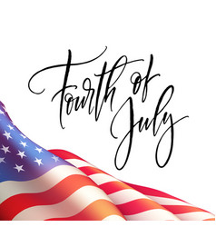 Fourth of july independence day poster or card vector